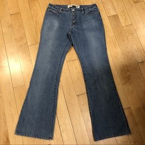 Levi's button fly flared leg Jeans size 8